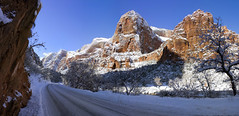 Zion National Park in the Snow (swissuki) Tags: zion national nature landscape park sky snow ut usa utah
