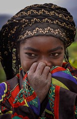 Shyness (Rod Waddington) Tags: africa african afrique afrika äthiopien ethiopia ethiopian ethnic ethnicity etiopia ethiopie etiopian culture cultural child candid girl dizi tribe traditional tribal portrait people omo omovalley