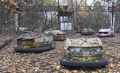 Pripyat Amusement Park (Sean M Richardson) Tags: abandoned amusement park pripyat chernobyl exclusion zone iconic bumper cars canon photography 50mm decay fall autumn historic history explore urbex