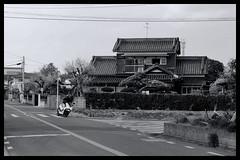 Tokyo Impressions of a great city (Matthias Harbers) Tags: panasonic dmctx1 photoshop elements topaz tokyo metropolitan lumix zs100 tz100 living home bike bw black white monochrome city street life impression blackandwhite photo border text walk road wheel