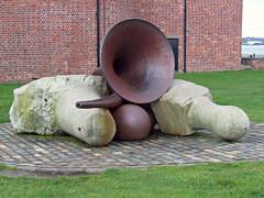 Royal Albert Docks, Liverpool, UK (teresue) Tags: 2017 uk england merseyside liverpool royalalbertdocks united kingdom publicart sculpture tonycraig raleigh