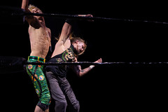 Wrestling - Ripetide: Deep Six (Mark Haskins w/ Vicky Haskins vs Chuck Mambo) (Yours Sinclairly) Tags: wrestling riptide brighton