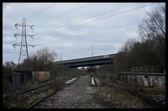 End Of The Line (Lewis_Hurley) Tags: urbex pylon urban railway southstaffordshireline eaglecrossing greatbridge birmingham england uk abandoned