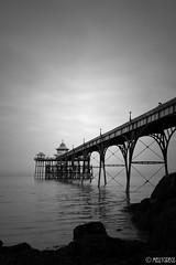 Clevedon Pier (Melanie Gregory) Tags: nikon england uk coast seaside monochrome photography blackandwhite somerset clevedon victorian pier