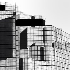 Abstract Architecture (2n2907) Tags: abstract architecture photo glass windows building skyscraper graphic geometric geometry composition blackwhite composite dallas texas lines