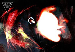obscuRED 666 (EK4T3 COLLECTIVE) Tags: ek4t3 hypnosiswave materiaobscura triangle magic artma marta face portrait obscure horror night black red obscured dead death mouth nose die perspective art artwork wallpaper experimenal connection