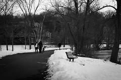 Strolling Along (lclower19) Tags: hornpond woburn massachusetts black white bw bench odt hittheroadjack