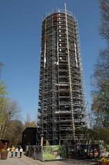 Berlin Südgelände Wasserturm mit Gerüst 7.4.2019 (rieblinga) Tags: berlin südgelände steglitz 742019 wasserturm gerüst allianz versicherung naturpark