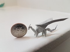 Dragon (Matthew J. Dunstan) Tags: dragon origami paper folding birdbase design art