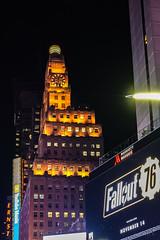 Gold and Purple (Jocey K) Tags: sonydscrx100m6 triptocanadaandnewyork architecture buildings evening illumination billboards nighttourhopandhopoffbus