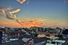 夕 (~金玉~ Y.C.CHEN) Tags: home house canon color 7d cloud colorful sky nature beautiful blue sun sunset
