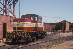 CP #15 CLC D-T-C (44H44A) at the Esquimalt and Nanaimo Railway Roundhouse in Victoria, BC (Houghton's RailImages) Tags: cp canadianpacific railway railroad canadianlocomotivecompany clc esquimalt nanaimo esquimaltnanaimo roundhouse 44h44a