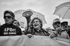 _MG_0128 (neves.joao) Tags: troika imf demonstration manifest manifestation lisbon economics streetphotography europe portugal austerity protest political democracy socialchange crowd canonef2470mml bw blackandwhite