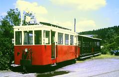 Slide 135-62 (Steve Guess) Tags: tram tramway streetcar strassenbahn strasenbahn трамвай nmvb sncv vicinal belgium belgique belgien belgië бельгия grottes han caves diesel ardennes hansurlesse