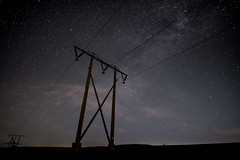 Nightsky @ oberndorf (ingohoffmann1) Tags: strommast electricaltower neumond oberndorf nightsky