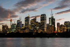 sydney city (Greg M Rohan) Tags: nightphotography trees longexposure architecture cityscape sunset clouds sky lights nightlights nighttime night building buildings skyscrapers skyscraper skyline water sydneycity australia sydney 2019 d750 nikon nikkor