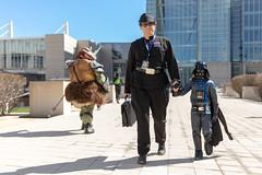 Bring your Dad to Work Day (Rudy Malmquist) Tags: starwars celebration cosplay chicago 2019 sunny darthvader darth vader children costumes darkside theforce force