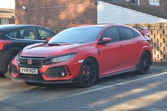 Honda Civic Type R (CA Photography2012) Tags: yn18vgt 2018 honda civic type r hot hatchback red japanese jdm hatch family car mugen ca photography automotive spotting vehicle performance sportscar