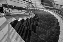 """50 Shades of Shadows"" (Photography by Sharon Farrell) Tags: rubin rubinmuseumofart manhattanmuseum newyorkmuseum newyork newyorkcity nyc chelsea manhattan stairway spiralstaircase blackandwhite blackandwhtieabstract blackwhite blackwhiteabstract noiretblanc stepsandstairs abstract abstractphotography abstractarchitecture abstracts staircaseabstract spiral spiralstaircases spiralabstract"