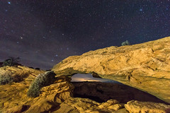 Mesa Arch (Kris Kumar) Tags: 2019 arch canyonlands february lightpainting longexposure lowlight mesaarch moab night ontripod starrynight stars utah