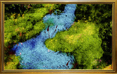 The River (Swissrock-II) Tags: photoshop photoshopart photoart photomanipulation digitalart brushes texture 2019 february frame river green