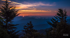 Myrtle Point Sunrise Panorama (Ron Harbin Photography) Tags: great smoky mountains national park gsmnp myrtle point mount leconte cades cove landscape frame full fx outdoor f28 24mm d750 nikon copyright black blue green tree lightroom diffused light shade natural depth field pictures spring summer autumn fall winter 2017 2018 flower grass escape fairytale wonderland forest photographer golden hour travel sun prime water rock boulder covered moss pioneers settlers