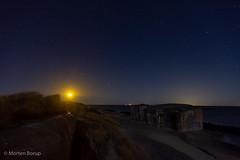 Bunkers and lighthouse (Mr.Borup) Tags: strand ocean bunker langeksponering longexposure nat skagen stjerner stars sky himmel nightsky nattehimmel sønderstrand beach lighthouse fyrtårn sea hav nightscape