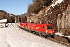 ÖBB 1116 185 -0 und 1116 181-9 Schrottzug, Gries am Brenner (TaurusES64U4) Tags: öbb taurus 1116