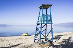 lake (remihidershaj) Tags: lake boat landscape shore beach sand baywatch mountain sky tower nature