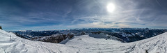 What a day (genelabo) Tags: sonnwendjoch mangfallgebirge hinteres tirol bayerischen voralpen brandenberger alpen alps mountain berge sky blue himmel sun sonne panorama stitch photoshop pano view skitour skiing ski