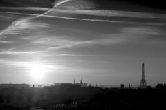 Bullet The Blue Sky (sdupimages) Tags: couchédesoleil sunset shadow silhouette eiffeltower toureiffel voyage landscape paris nuages clouds ciel sky monochrome noirblanc noiretblanc blackwhite cityscape