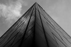 XXI Century pyramid (tofbruno) Tags: bw blackandwhite pentax paris pentaxart bâtiment monochrome construction batiment k1 architecture lignes