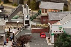 railway pedestrian bridge in british village model train set, Wellington RailEx 2018 (hueymilunz) Tags: nz newzealandtransition newzealand wellington still closeup toy life 365project