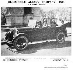 1923   Oldsmobile  Albany Co ad.   303 Central ave (albany group archive) Tags: 1920s old albany ny vintage photos picture photo photograph history historic historical
