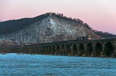 Slabs at Sunset (Erie Limited) Tags: norfolksouthern ns ge c449w rockvillebridge susquehannariver marysvillepa train railfan railroad