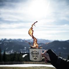 Mugshot monday (hansigebhardt) Tags: neverstopexploring weroamgermany germanroamers discoverearth roamtheplanet roamersplanet thegreatoutdoors stayandwander break sunset sun hiking mountainstone mountains bealpine alpine alps coffeemug coffee