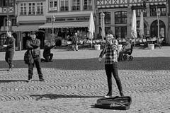 Being watched (michaelhertel) Tags: frankfurt römer street bw sw mono monochrome people travel germany deutschland