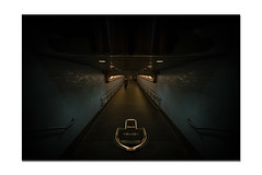 """""""CrossUnder"""" (36D VIEW) Tags: sel1628 16mm uwa a7rii a7rm2 mirrorless sony lowkey wide angle stairs hallways"""