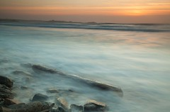 Watergate Bay Sunset (Julian Barker) Tags: watergate bay newquay cornwall south west england uk atlantic ocean log foreground sunset dusk colour sea shore shoreline long exposure canon dslr 5d mkii julian barker kernow beach
