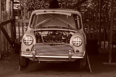 Morris Mini Cooper S 1965, HRDC Track Day, Goodwood Motor Circuit (1) (f1jherbert) Tags: sonya68 sonyalpha68 alpha68 sony alpha 68 a68 sonyilca68 sony68 sonyilca ilca68 ilca sonyslt68 sonyslt slt68 slt sonyalpha68ilca sonyilcaa68 goodwoodwestsussex goodwoodmotorcircuit westsussex goodwoodwestsussexengland hrdctrackdaygoodwoodmotorcircuit historicalracingdriversclubtrackdaygoodwoodmotorcircuit historicalracingdriversclubgoodwood historicalracingdriversclub hrdctrackday hrdcgoodwood hrdcgoodwoodmotorcircuit hrdc historical racing drivers club goodwood motor circuit west sussex brown white sepia bw brownandwhite