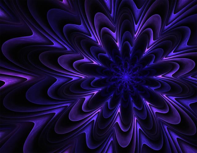 Обои фрактал, узоры, фиолетовый, волнистый, объемный картинки на рабочий стол, фото скачать бесплатно