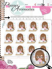 Emely Girl Work Hard Planner Stickers 1120 by EmelysPlannerShop (emelysplannershop.com) Tags: planner stickers icon accessories functional daily agenda organizer live emelysplannershop