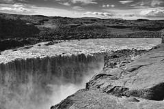Dettifoss (RobertLx) Tags: dettifoss waterfall iceland lanscape landscape view nature water fall river stone rock nordic 64 bw monochrome arctic bwnature travel europe