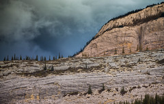 """The Rockies are therefore very young and should never be thought of as ancient . . ."" (John A. McCrae) Tags: geology rockformations rock rockymountains canadianrockies nationalpark jaspernationalpark mountains storm sky scenery alberta albertabound"