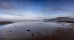 Misty and calm (Through Bri`s Lens) Tags: northdevon croydebay beachlowtide lowtidereflection sky clouds water sea seaweed brianspicer canon5dmk3 canon1635f4