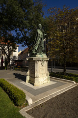 Statue on Castle Hill (rschnaible) Tags: budapest hungary europe outdoor sightseeing castle hill building architecture statue monument