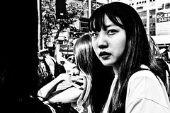 Untitled (Victor Borst) Tags: street streetphotography streetlife reallife real realpeople asian asia asians faces face candid travel travelling trip traveling urban urbanroots girl gi girls mono monotone monochrome shibuyacrossing japan japanese tokyo sexy beautiful beauty hot woman lady female city cityscape citylife fuji fujifilm xpro2 expression happyplanet asiafavorites