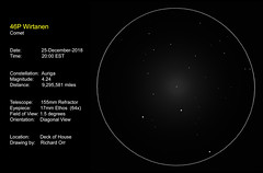 Christmas Comet of 2018 (Odonata457) Tags: comet 46p wirtanen 25december2018 drawing