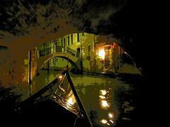 Romantic night in Venice / Nuit romantique à Venise (2) (GEMLAFOTO) Tags: gondola venice venise