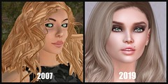 Strawberry Singh Before and After Challenge (Sivyaleah (Elora)) Tags: strawberry singh before after avatar second life mesh bento oldbie lelutka piper stealtic passion hair glam affair nimoe euphoric janet